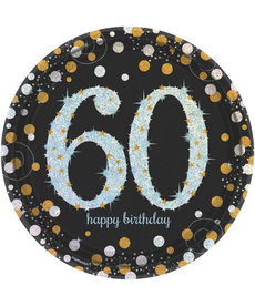"9"" Plates: Sparkling Celebration - 60th Birthday"