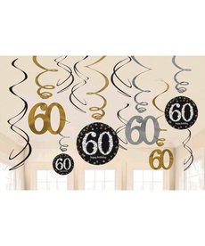 Swirl Decorations - 60th