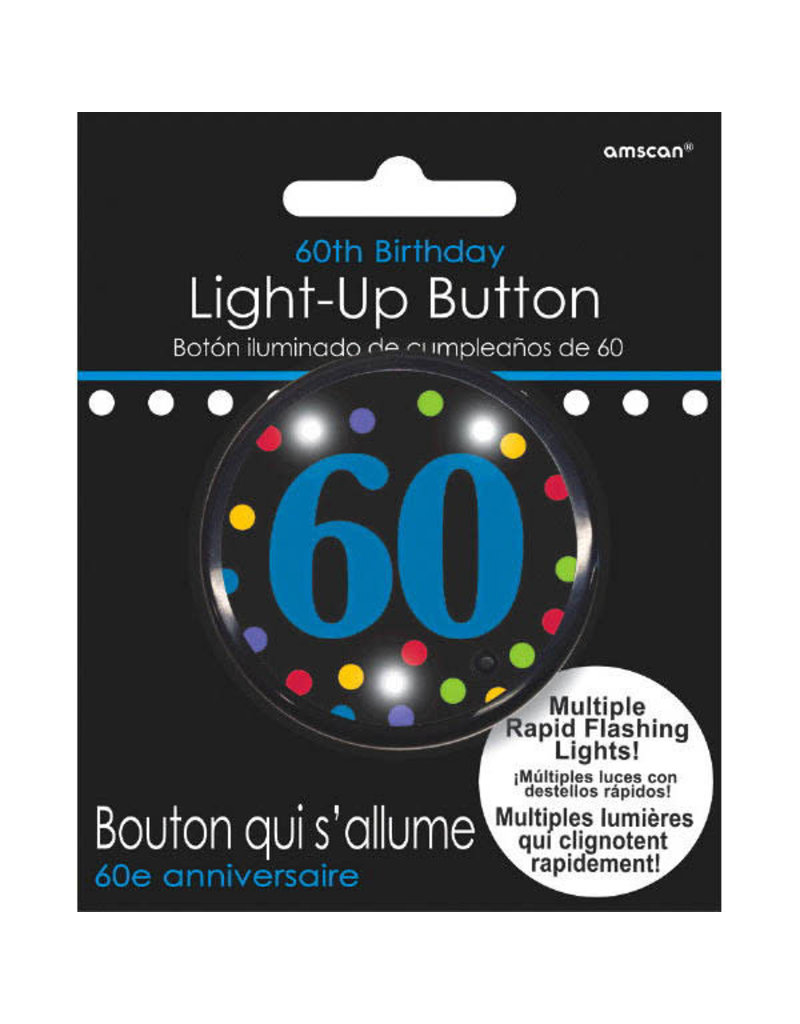 Light Up Button - 60th Birthday