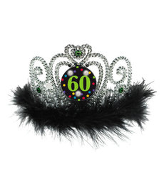 Flashing Birthday Tiara - 60th