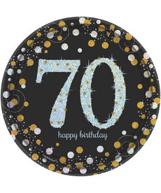 "7"" Plates: Sparkling Celebration - 70th Birthday"