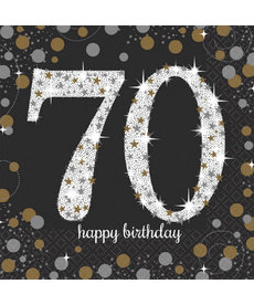 Luncheon Napkins: Sparkling Celebration - 70th  Birthday