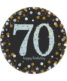 "9"" Plates: Sparkling Celebration - 70th Birthday"