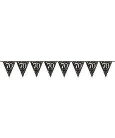 Sparkling Pennant Banner - 70th