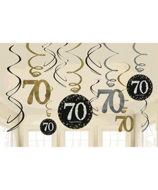 Swirl Decorations - 70th