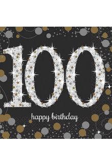 Beverage Napkins - 100th Sparkling Celebration (16ct.)