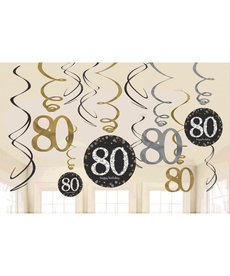 Swirl Decorations - 80th