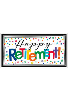 "Giant Banner - ""Happy Retirement!"""