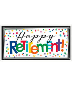 "Giant Banner - ""Happy Retirement!"""