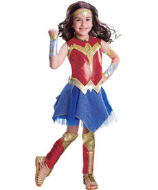Rubies Costumes Girl's Deluxe Wonder Woman Costume (WW Movie)