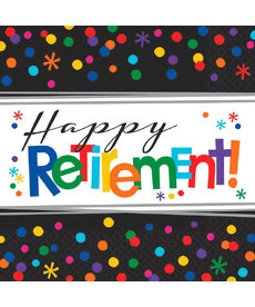 "Luncheon Napkins: Officially Retired - ""Happy Retirement!"""
