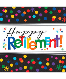 "Beverage Napkins: Officially Retired - ""Happy Retirement!"""