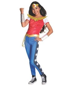 Rubies Costumes Girl's Deluxe Wonder Woman Costume (DC Super Hero Girls)