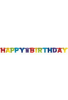 "Bright Letter Banner - ""Happy Birthday"""
