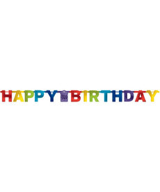 "Bright Letter Banner - ""Happy Birthday"""