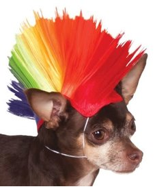 Rubies Costumes Pet Mohawk Wig (Rainbow)
