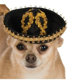 Rubies Costumes Pet Sombrero (Black/Gold)