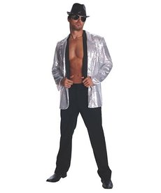 Rubies Costumes Men's Silver Sequin Jacket