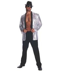 Rubies Costumes Men's Silver Sequin Jacket