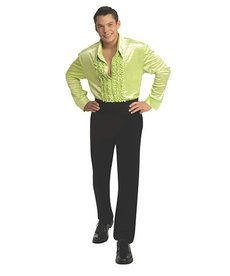 Rubies Costumes Men's Velvet Green Disco Shirt