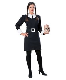 Rubies Costumes Women's Deluxe Wednesday Addams Costume