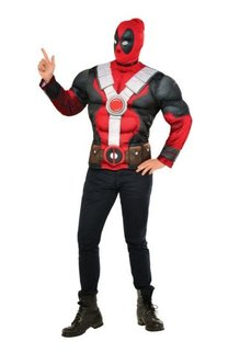 Rubies Costumes Men's Muscle Chest Deadpool Costume Top and Mask