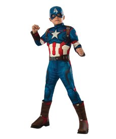 Rubies Costumes Boy's Deluxe Captain America Muscle Chested Costume
