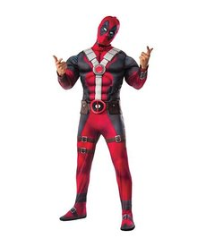 Rubies Costumes Men's Deluxe Deadpool Costume with Muscle Chest