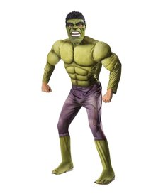 Rubies Costumes Men's Deluxe Hulk Costume with Muscle Chest (Thor: Ragnarok)