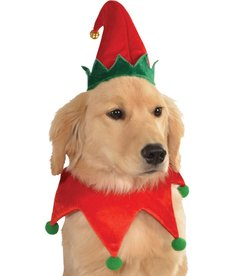 Rubies Costumes Elf Pet Hat w/ Bell: Pet Costume