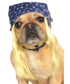 Rubies Costumes Blue Rock Star Bandanna w/ Blonde Wig: Pet Costume