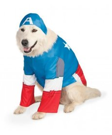 Rubies Costumes Big Dog: Captain America Pet Costume