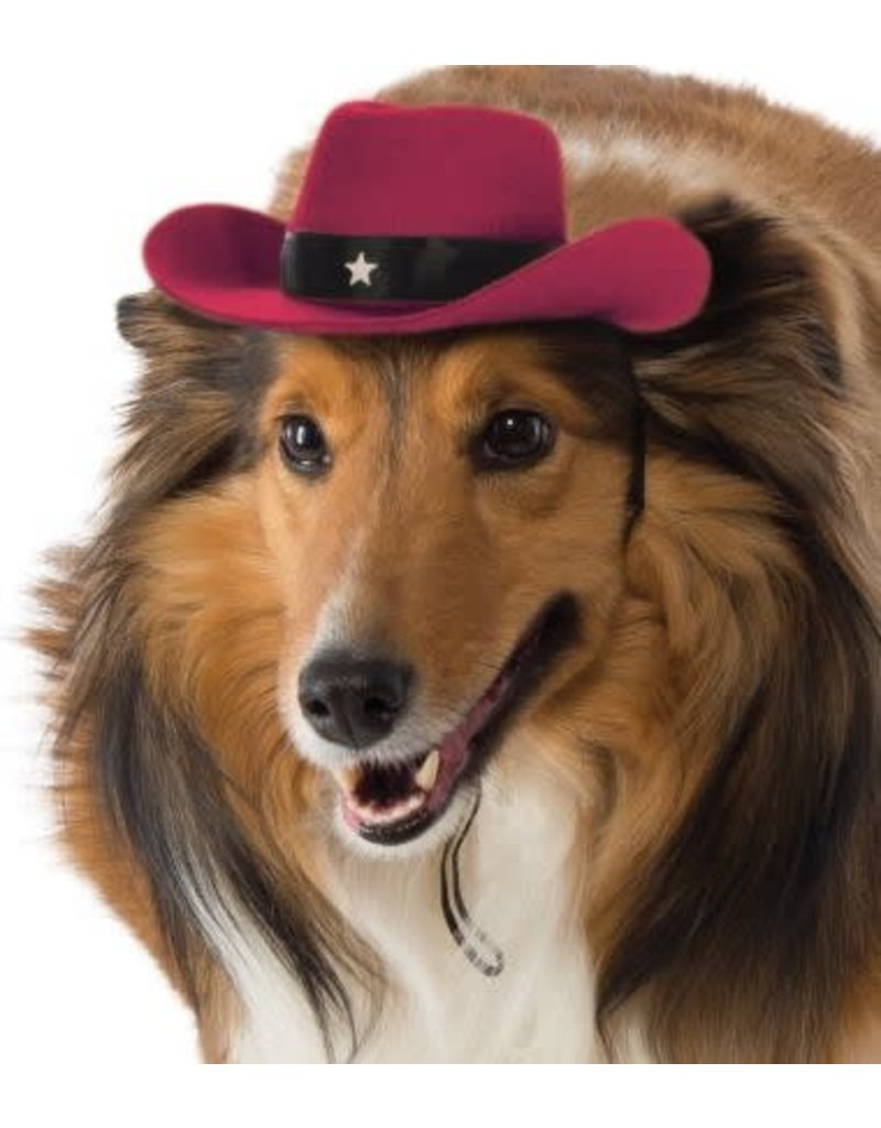 Rubies Costumes Cowboy Pet Hat (Red): Pet Costume