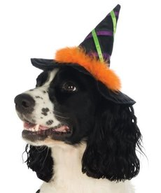 Rubies Costumes Witch Pet Hat w/ Trim: Pet Costume