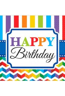 Beverage Napkins - Birthday (16ct.)