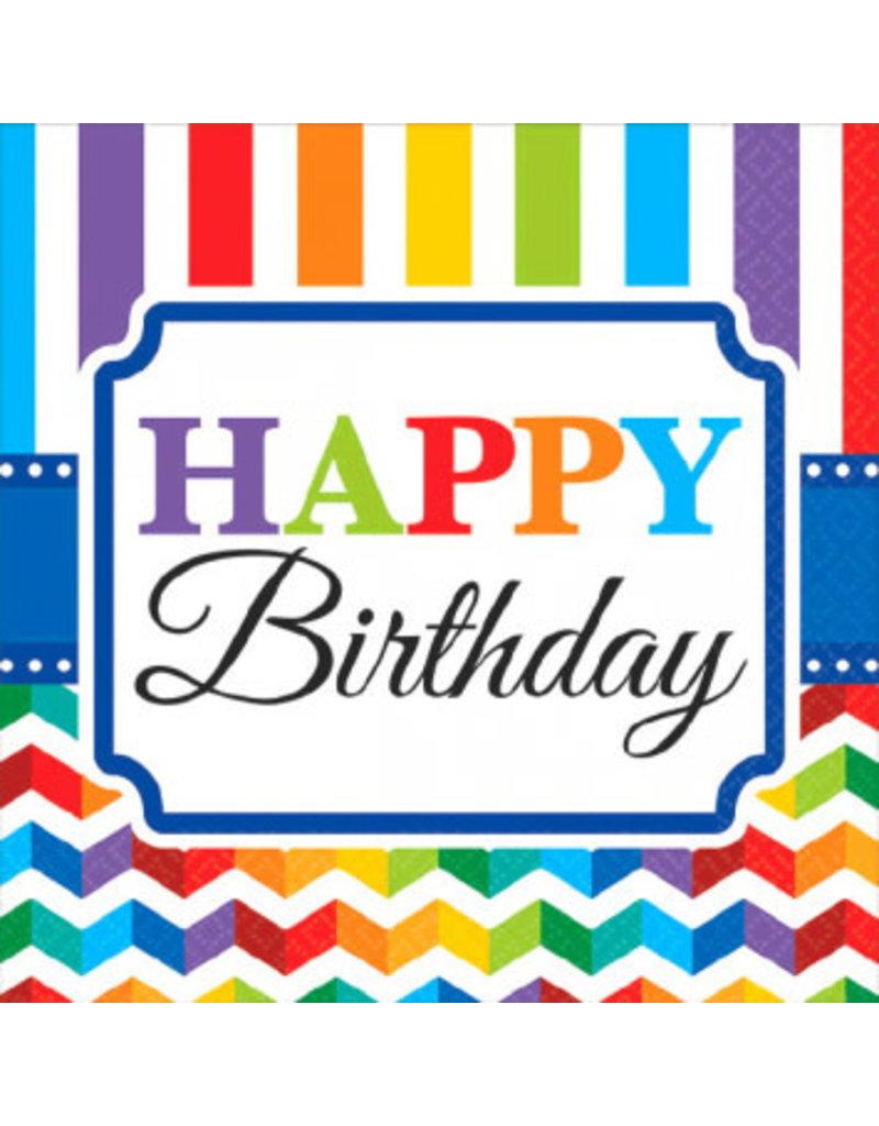 Beverage Napkins: Happy Birthday (16ct.)