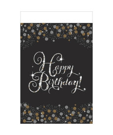 Rectangle Table Cover - Happy Birthday! Sparkling Celebration