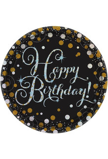"""9"""" Plates - Happy Birthday! Sparkling Celebration (8ct.)"""