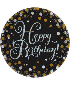 "9"" Plates - Happy Birthday! Sparkling Celebration (8ct.)"