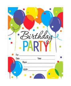 Invitations - Balloon Bash (50ct.)