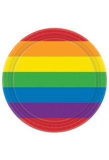 "7"" Round Plates - Rainbow"