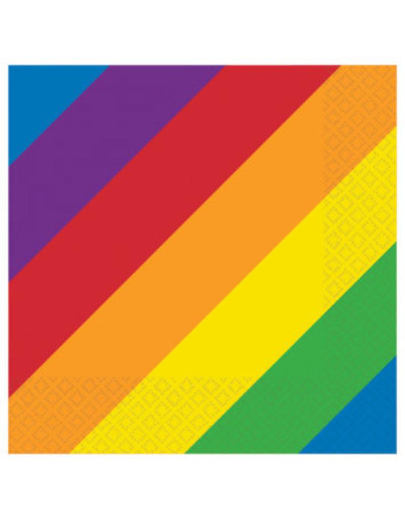 Beverage Napkins - Rainbow 16ct