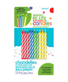 Magic Relite Candles - Rainbow Striped