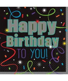 "Luncheon Napkins - ""Happy Birthday"""
