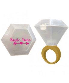 Bride Tribe Shot Glass Ring
