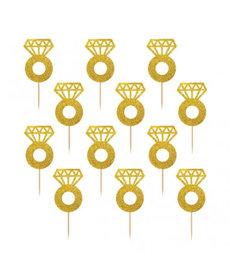 Diamond Ring Glitter Picks (24ct.)