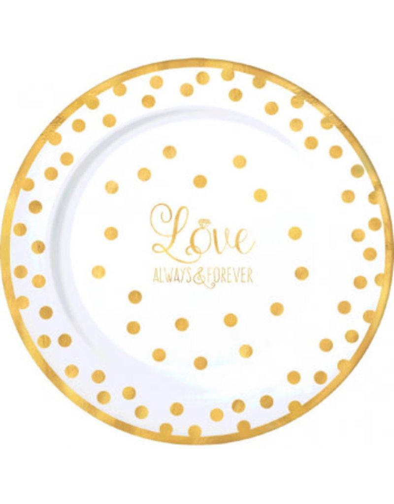 """10"""" Premium Plastic Plates - Love (10ct.)"""