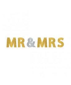Glitter Letter Banner - Mr. & Mrs.