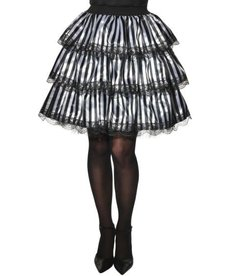 Rubies Costumes Adult Black/White Striped Ruffle Skirt (Opus)