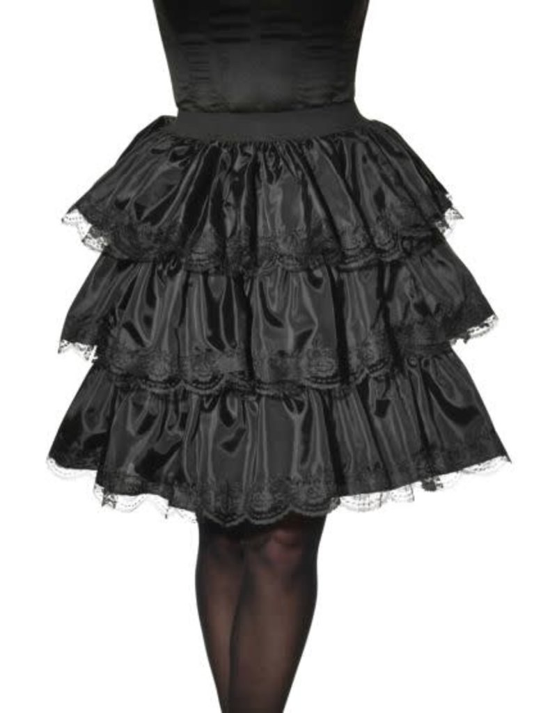 Rubies Costumes Adult Black Ruffle Skirt (Opus)